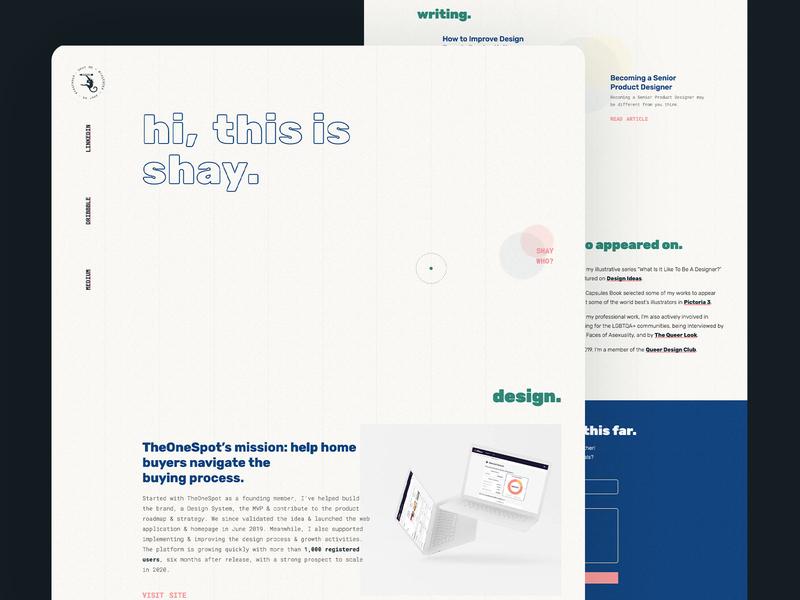 Portfolio 2020 - Homepage typography monkey 90s retro punk webflow responsive interaction ui product design web design figma css monkey logo branding art direction one page design