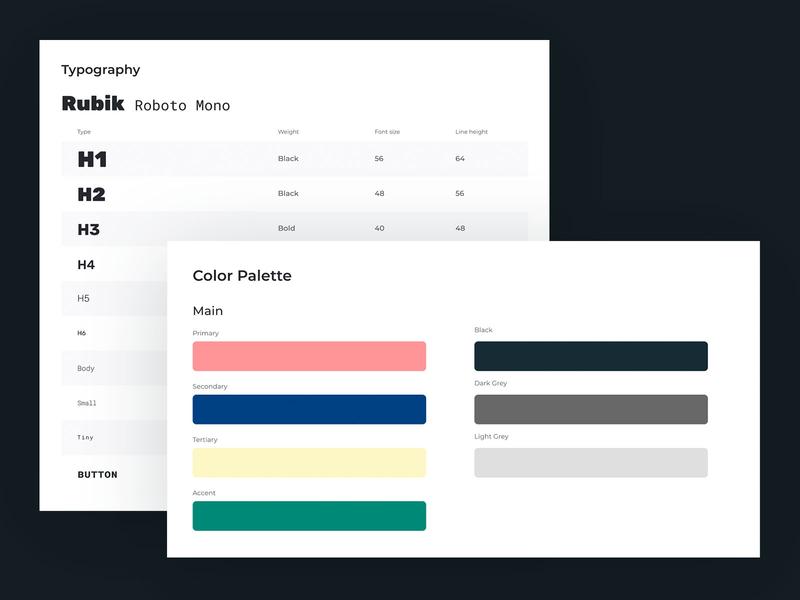 Portfolio 2020 - UI Kit branding art direction figma folio typography palette colors punk retro ui kit