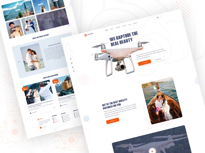 Drone Photography Service website landing pages inner pages clean ui design nature photography wedding photography 2020 trends best website company minimal creative landing drone services drone photography drone design typography website homepage clean