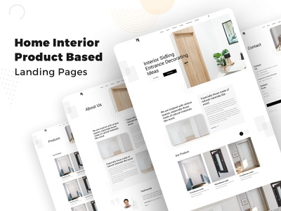 Home Interior Product Based Template typography minimal branding landing creative clean home rent home decoration home interior design template design website homepage