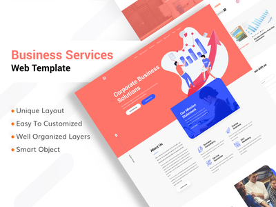 Corporate Business Services Website agency website company profile brand identity corporate design corporate branding branding design agency company template landing minimal creative clean typography website homepage