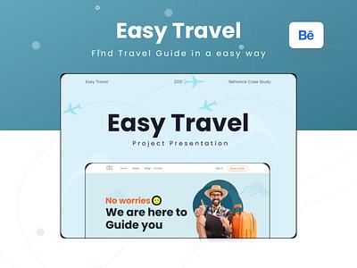 Easy Travel- Find Travel Guide ux website