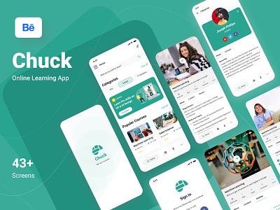 Chuck- Online Learning App dashboard design ui ux design learning app e learning online courses