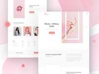 Beauty + Makeup Landing page