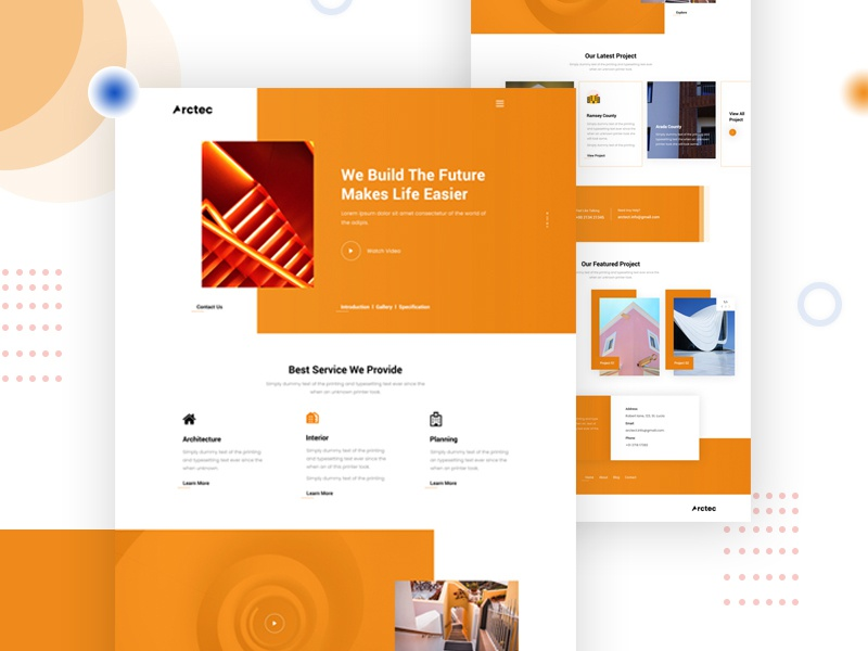 Architecture Landing Page real estate housing home decoration company new website 2019 agency best website 2018 color template landing typography website homepage architectural design architect architechture design clean ux ui