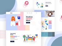 Alumni- Homepage concept