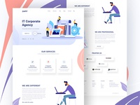 IT- Corporate Agency Landing Page