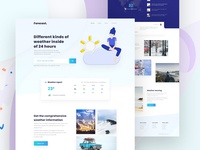 Weather Landing Page concept