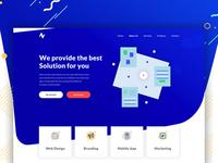 Company Portfolio Landing Page