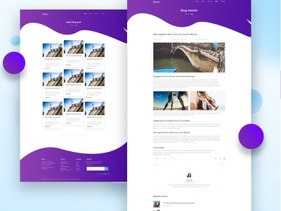 Blog Details Page ecommerce landing page color creative page ui website template app agency minimal gradient landing design ux typography homepage clean marketing agency company