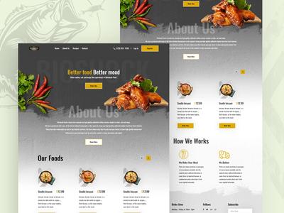 Food Order Landing Page