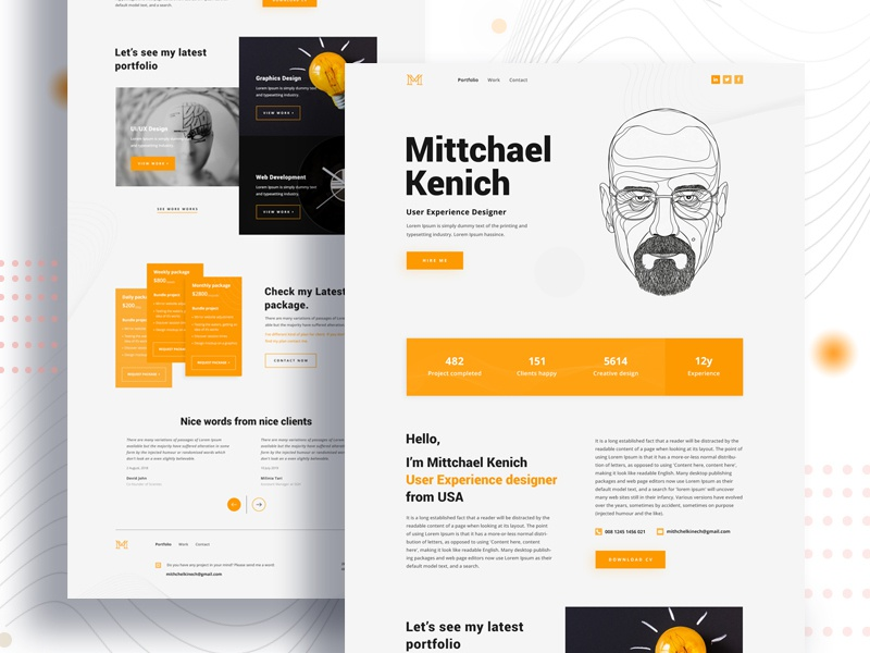 Best Landing Pages 2020 Personal Portfolio Landing Page by Sujon Baidya on Dribbble