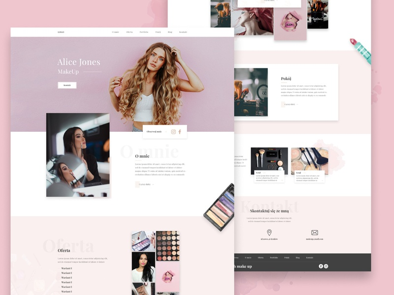 MakeUp-Web interface design interface cover mobile web website landing page app visual design typography project product design ux user interface user experience ui michalik kacper