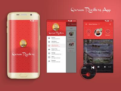 Quran Reciters App ui application app android