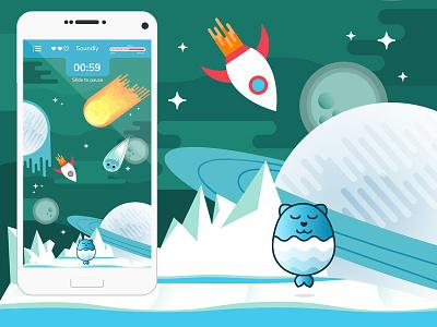 Game Design ui art android game flat