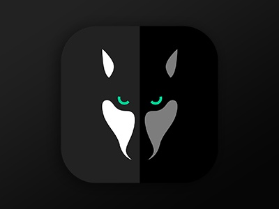 Icon For iOS App ui gui flat icon flat iphone icon design ios icon ios chat wolf