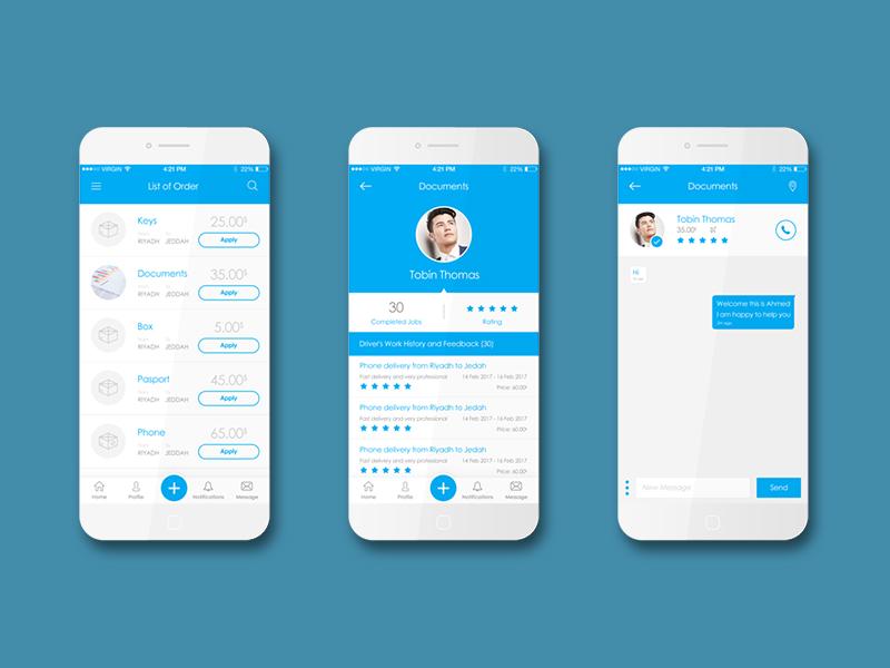 iOS Transport App transport ui screen iphone ios graphic-design design application app