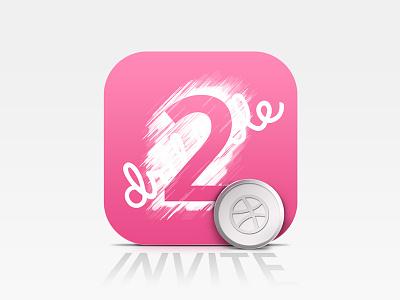 Dribbble Invites scratch coin 2 invites 2 icon member invitation dribbble