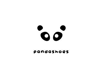 Logo design - p a n d a s h o e s panda bear panda logo logo design flat design flat graphic design panda shoes branding vector logo design