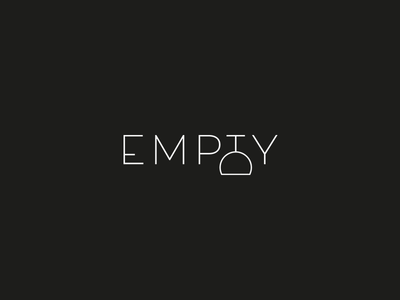 Logo Design Concept - Empty wine logo wine glass minimalist minimalist logo elegant logos logotype empty glass wine logo design design branding logo