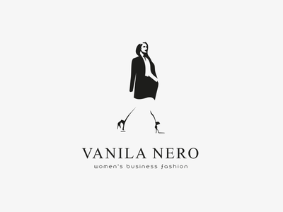 Vanila Nero Logo Design fashion logo logodesigns logodesigner logodesign logos business woman woman illustration woman logo woman business clothing brand clothing clothes fashion fashion illustration fashion brand logo design design branding logo