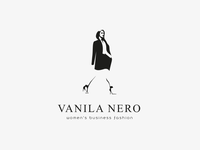 Vanila Nero Logo Design fashion logo logodesigns logodesigner logodesign logos business woman woman illustration woman logo woman business clothing brand clothing clothes fashion fashion illustration fashion brand logo design design branding logo