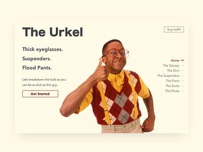 The Urkel did i do that steve urkel daily ui landing page tgif urkel