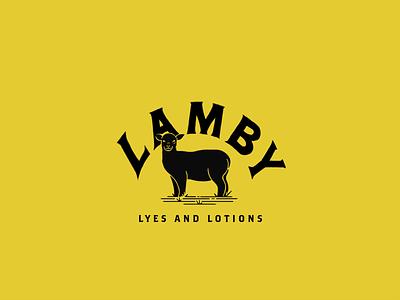 Lamby logo lamb lotions logo vintage