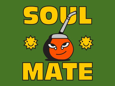 soulMATE character tea natural energy tradition hierba yerba icon design illustration sun argentina friend soulmate mate drink