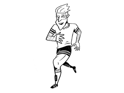 Mezzil draw design black character calcio ozil messi soccer illustration