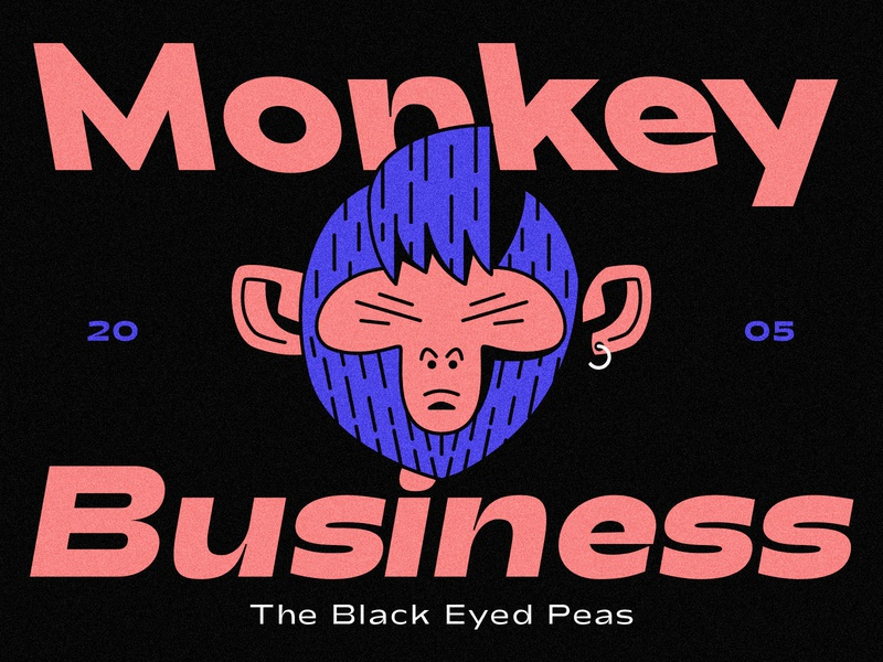 Monkey Business character icon design cover artwork business monkey album cover illustration