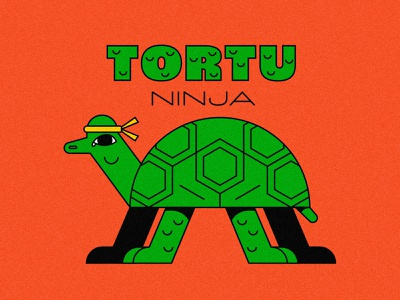 teenage (not mutant yet) ninja turtle animal illustration art icon lines character illsutration design turtle illstration