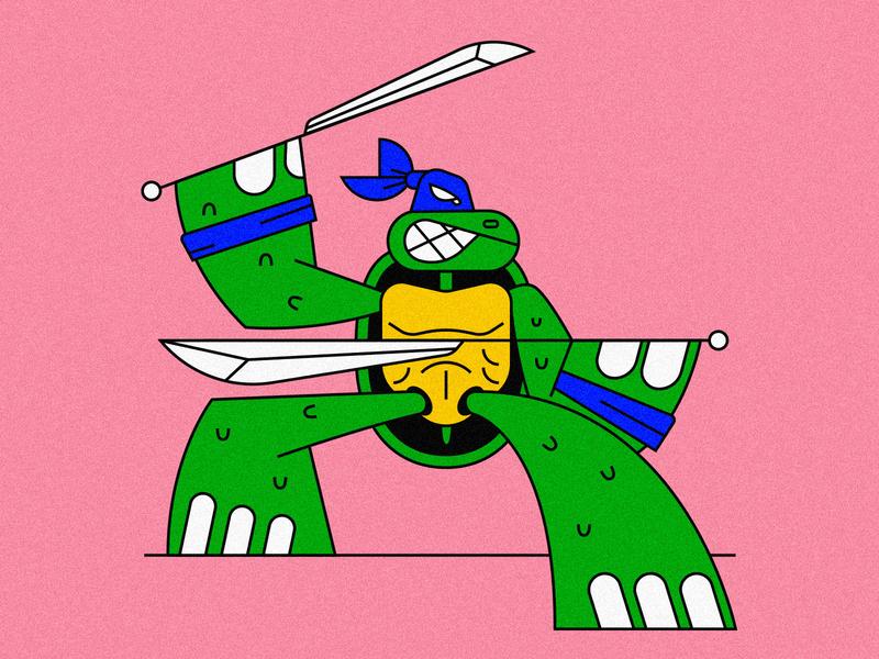 Ninja Leonardo movie netflix toy character teenager swords turtle ninja illustration