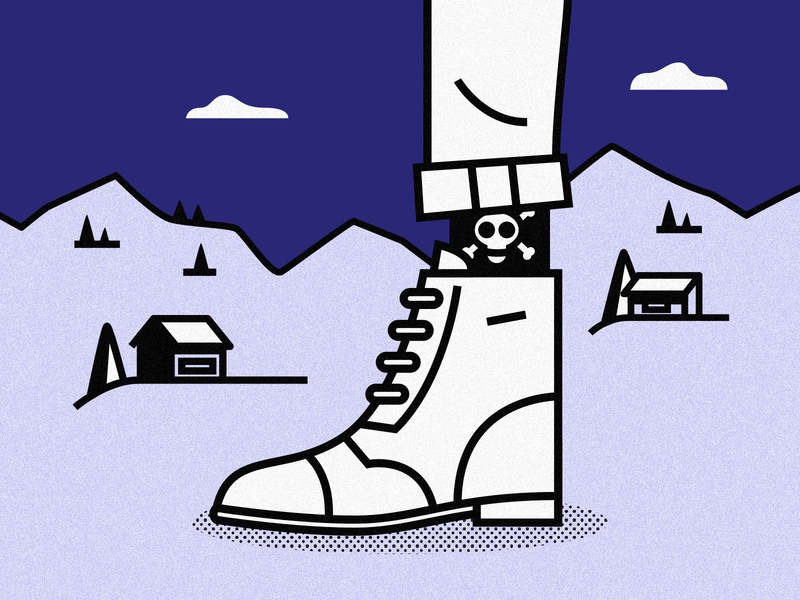 Pirate boots man person vector character illustration mountain snow cabin socks men explore walk winter pirate boots
