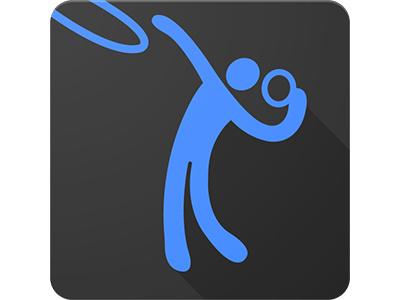 Sports App Icon application branding iconography material design modern logo wilirax wilirax designs