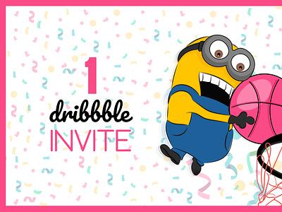 Dribbble Invite giveway dribbble invite invites invitation first design branding vector illustration modern logo design dribbble wilirax designs wilirax