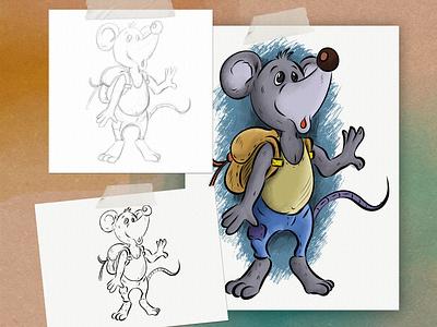 Aventure Mouse animal art mouse digital painting ipadpro drawing illustrator concept charachter design childrens book illustration children book illustration