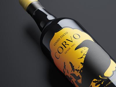 Corvo wine label wine brand identity brand design logotype winery wine bottle wine label logo branding design
