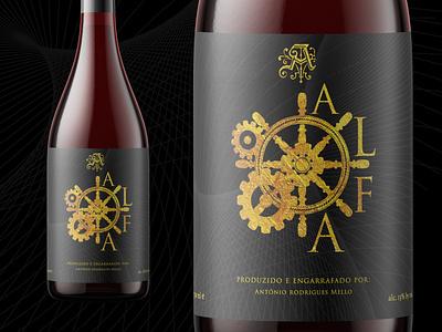 Alfamock designer wine label logo branding design