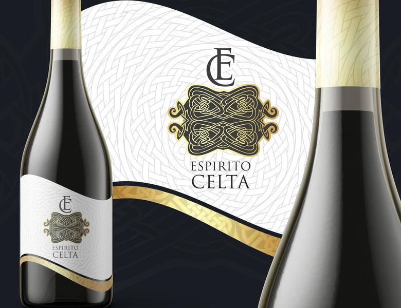 Espirito Celta - Wine Label label design label wine label wine branding design