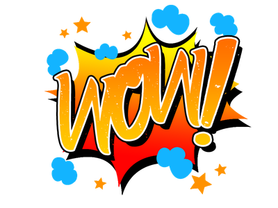 CarttonWOW digital painting colorful concept typography vector design logo comic book comic art illustration