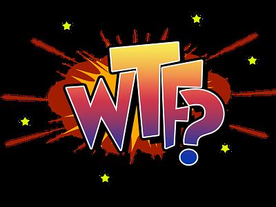 Cartoon WTF typography wtf comic books comics cartoon illustration illustrator drawing concept colorful digital painting comic book comic art illustration