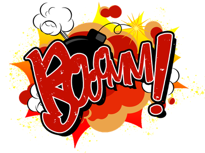 Cartoon BOOM! american fun cartoon explosion boom illustrator drawing design colorful digital painting comic book comic art illustration