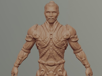 Warrior 3D digital sculpture digitalart sculpture nomad 3d artist 3d art design concept