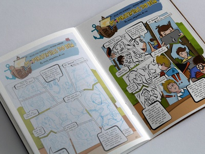Piratinhas Comic illustrator digital painting comic book childrens book illustration children book illustration comic art