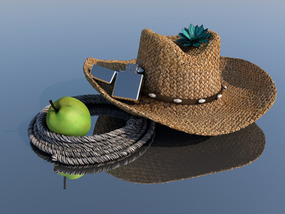Rodeo Life lotus rodeo modeling cowboy rope apple 3d lighter hat c4d