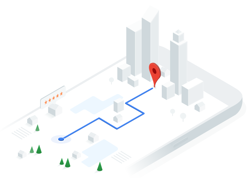 Google Maps API homepage illustration by Jon Øvrebø ...