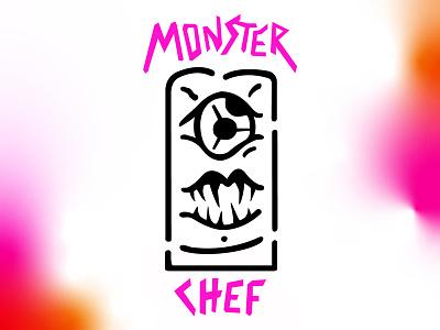 Monster Chef branding vector monster chef mark identity logo typography graphic deisgn