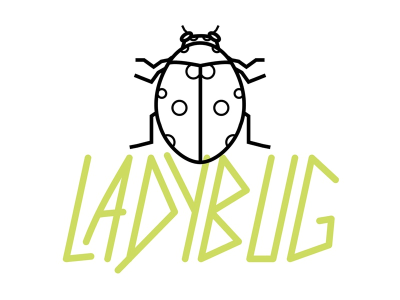 Ladybug beneficial ladybug insect bug type alive illustration agriculture ag mark logo vector typography graphic design