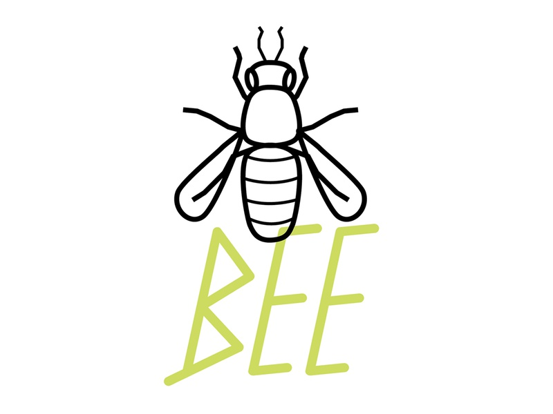 Bee good benefit font bee honey beneficial type insect illustration ag agriculture mark logo vector typography graphic design